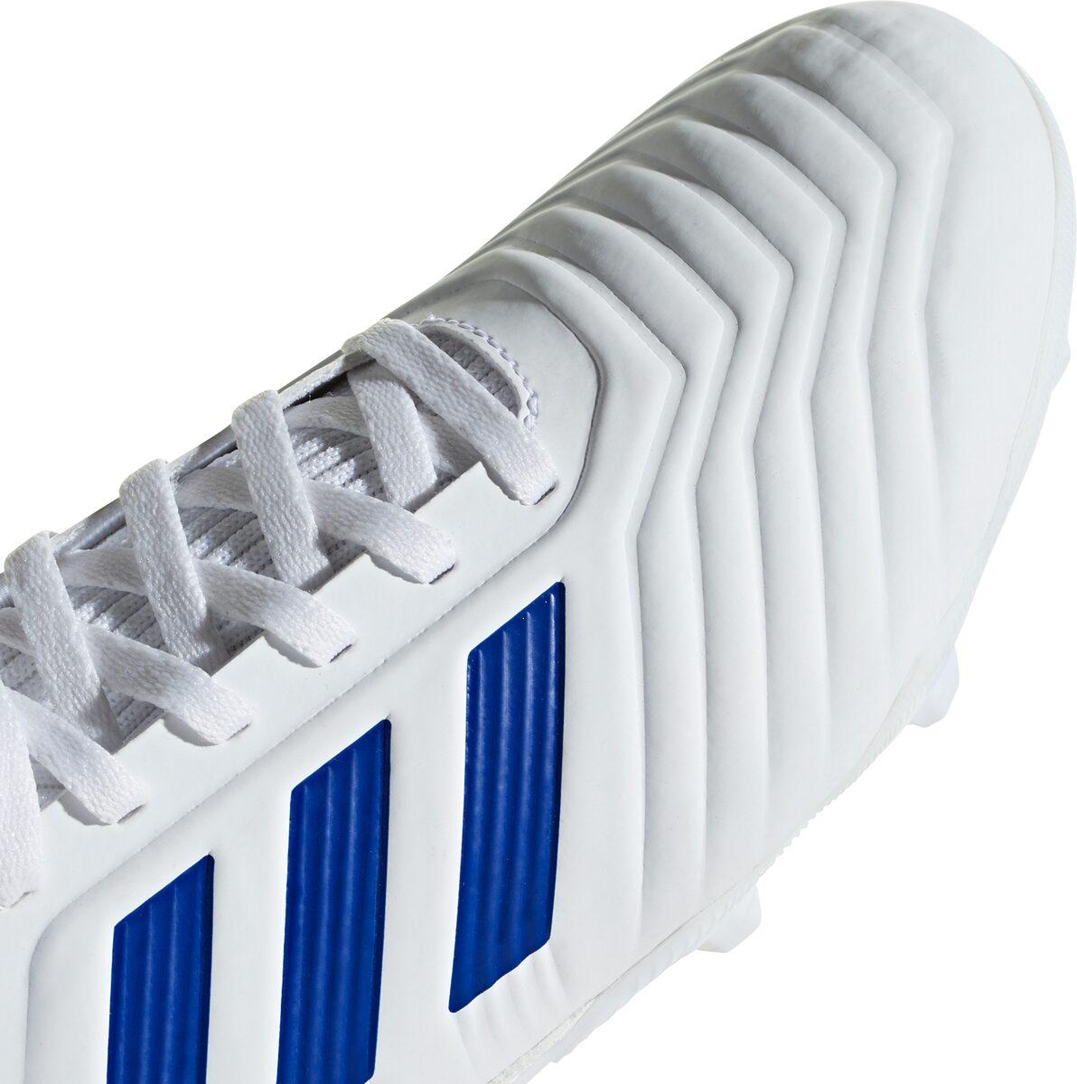 adidas Predator 19.3 FG J Kinder Fußballschuhe weiß blau CM8535